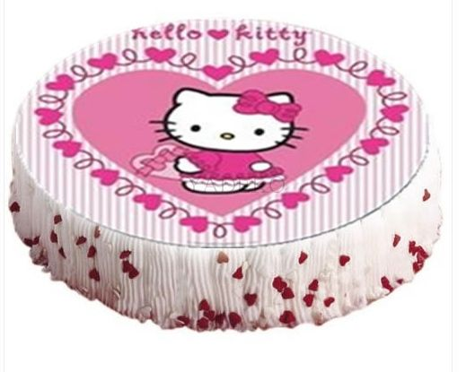 1 hello kitty tortenaufleger tortendeko geburtstag ebay. Black Bedroom Furniture Sets. Home Design Ideas