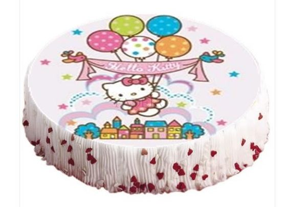1 hello kitty tortenaufleger geburtstag torte kuchen. Black Bedroom Furniture Sets. Home Design Ideas